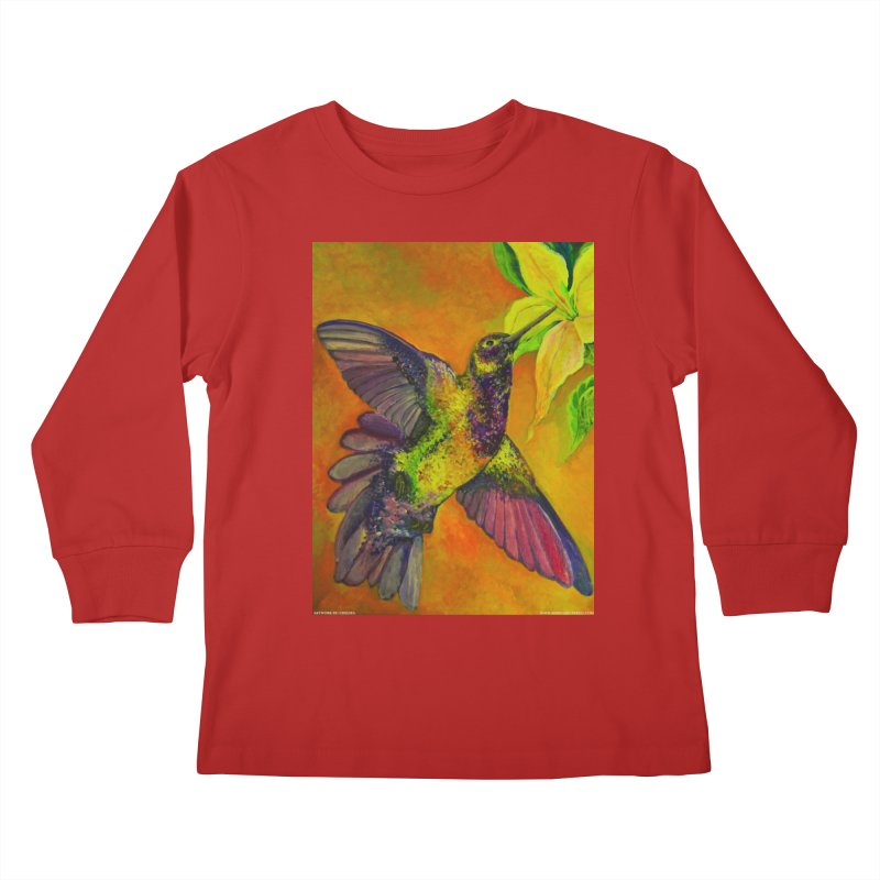 A Hummingbird's Desire Kids Longsleeve T-Shirt by Every Drop's An Idea's Artist Shop