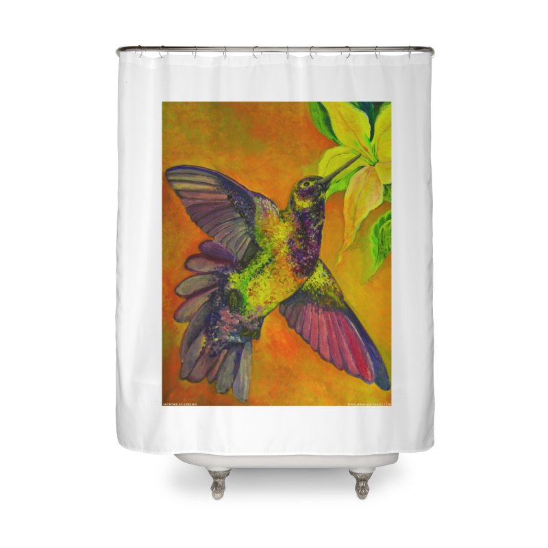A Hummingbird's Desire Home Shower Curtain by Every Drop's An Idea's Artist Shop