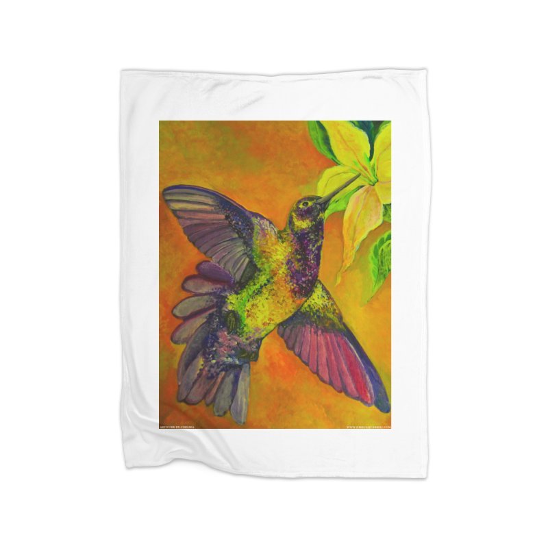 A Hummingbird's Desire Home Blanket by Every Drop's An Idea's Artist Shop