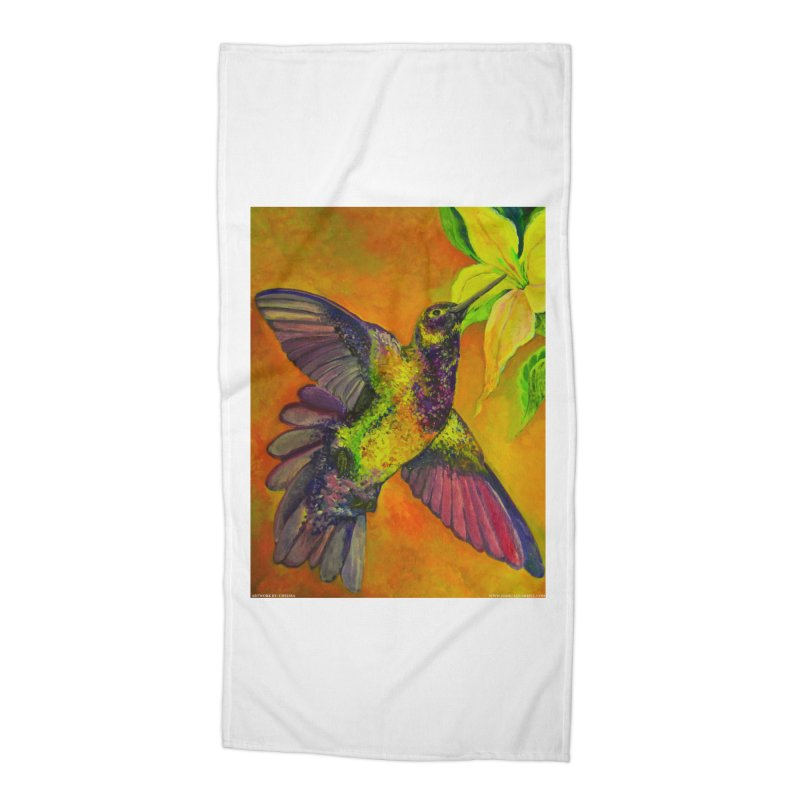 A Hummingbird's Desire Accessories Beach Towel by Every Drop's An Idea's Artist Shop