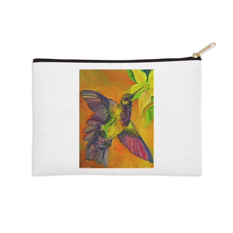 A Hummingbird's Desire Accessories Zip Pouch by Every Drop's An Idea's Artist Shop