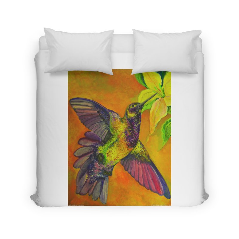 A Hummingbird's Desire Home Duvet by Every Drop's An Idea's Artist Shop