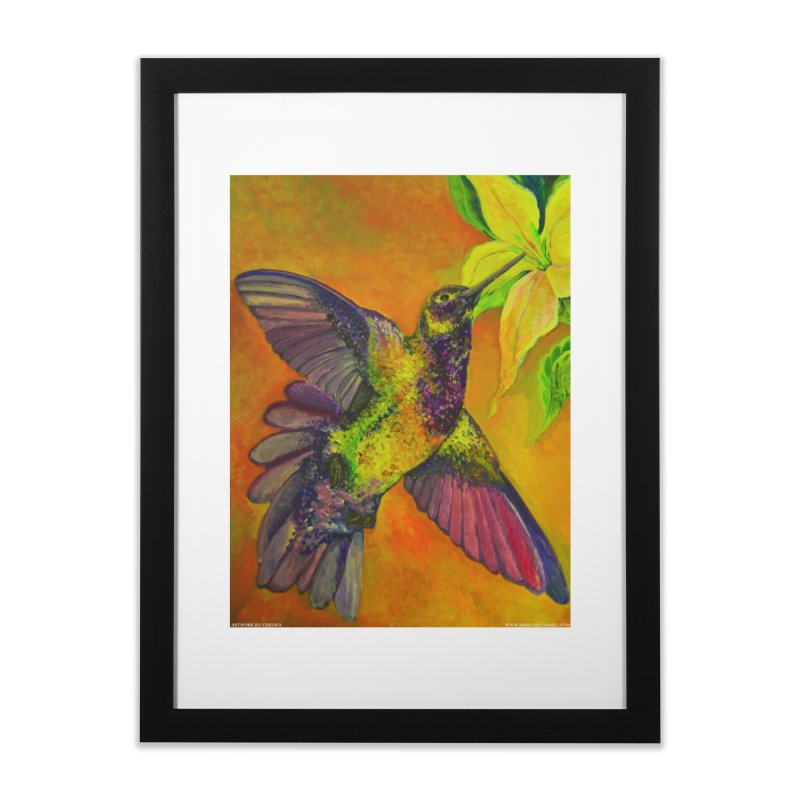 A Hummingbird's Desire Home Framed Fine Art Print by Every Drop's An Idea's Artist Shop