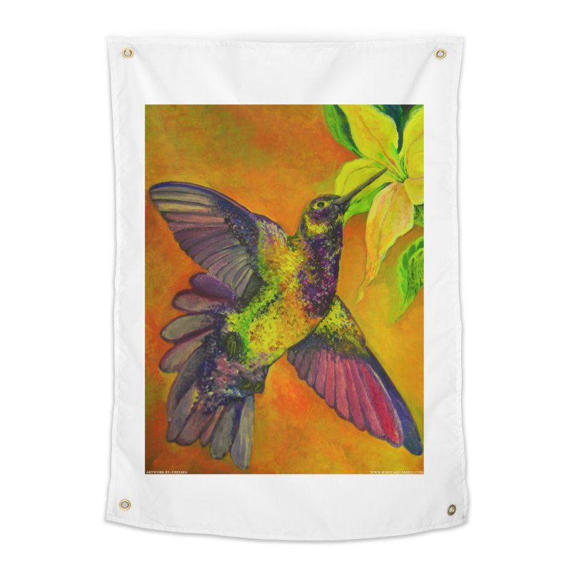 A Hummingbird's Desire Home Tapestry by Every Drop's An Idea's Artist Shop