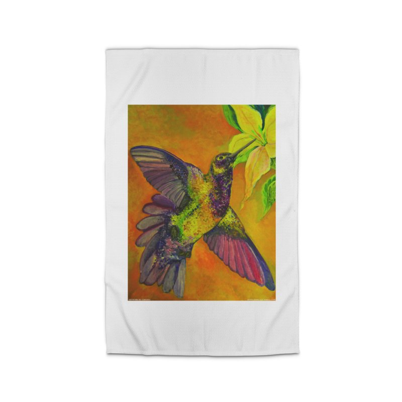 A Hummingbird's Desire Home Rug by Every Drop's An Idea's Artist Shop