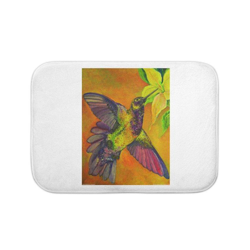 A Hummingbird's Desire Home Bath Mat by Every Drop's An Idea's Artist Shop