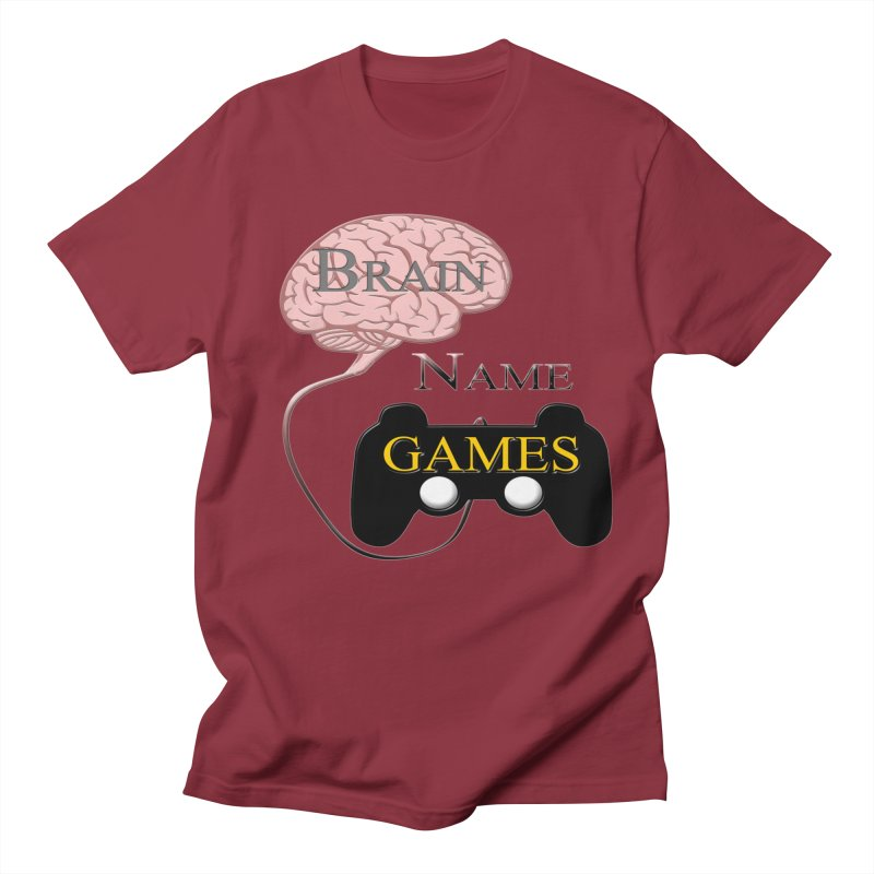 Brain Name Games in Men's Regular T-Shirt Scarlet Red by Every Drop's An Idea's Artist Shop
