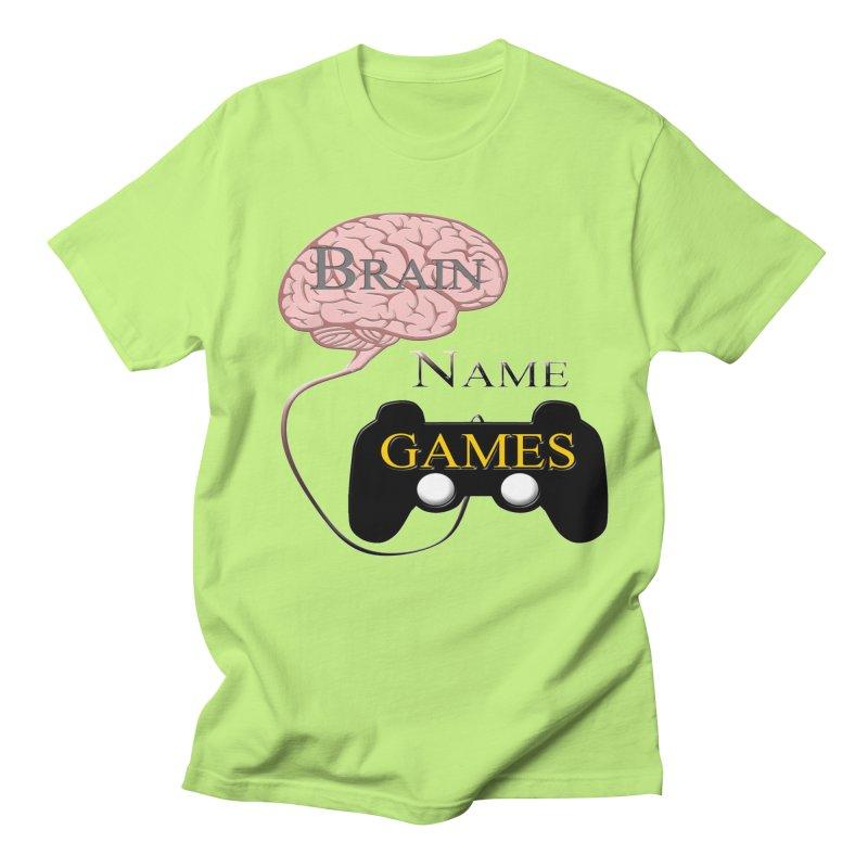 Brain Name Games Men's T-Shirt by Every Drop's An Idea's Artist Shop