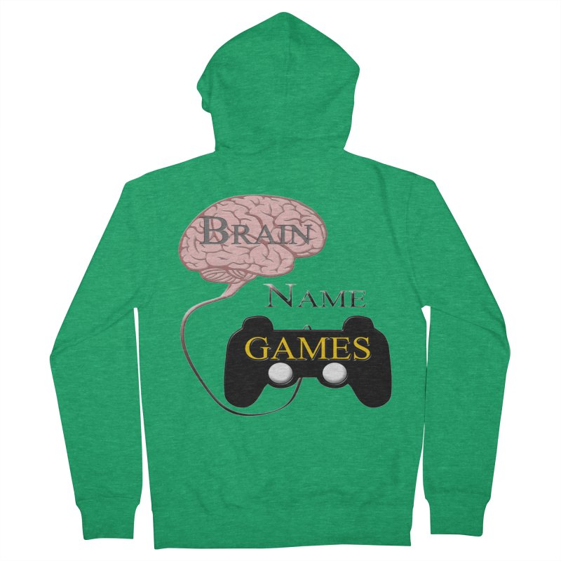 Brain Name Games Men's Zip-Up Hoody by Every Drop's An Idea's Artist Shop