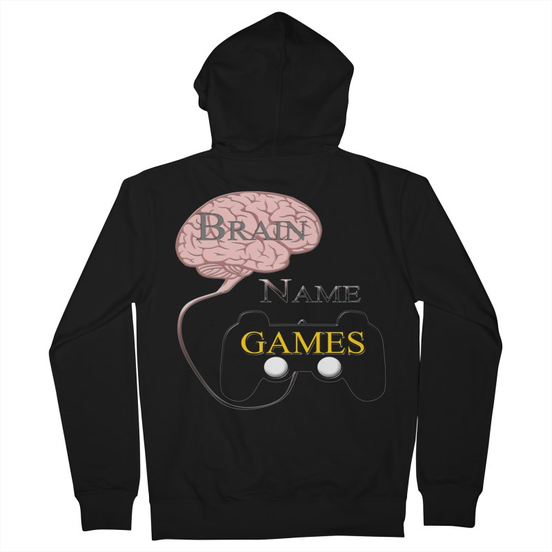 Brain Name Games Men's Zip-Up Hoody by Every Drop's An Idea's Artist Shop