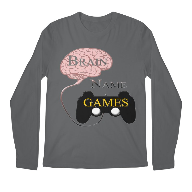 Brain Name Games Men's Longsleeve T-Shirt by Every Drop's An Idea's Artist Shop
