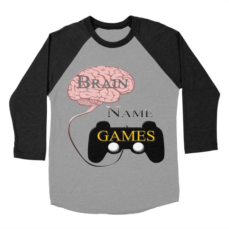 Brain Name Games Women's Baseball Triblend Longsleeve T-Shirt by Every Drop's An Idea's Artist Shop