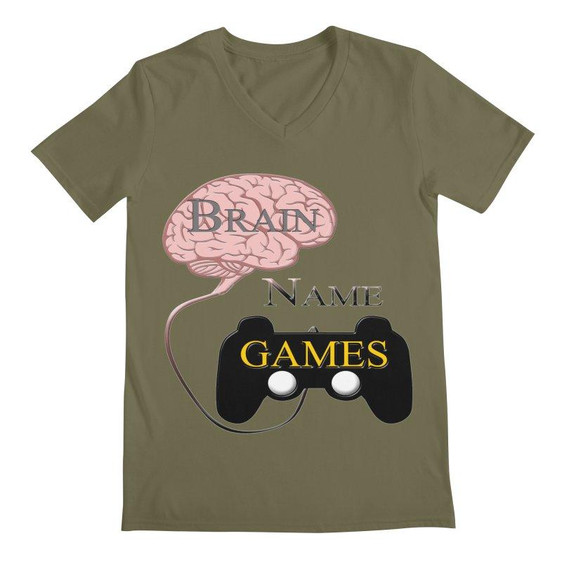 Brain Name Games Men's V-Neck by Every Drop's An Idea's Artist Shop
