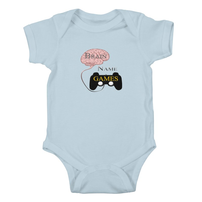 Brain Name Games Kids Baby Bodysuit by Every Drop's An Idea's Artist Shop