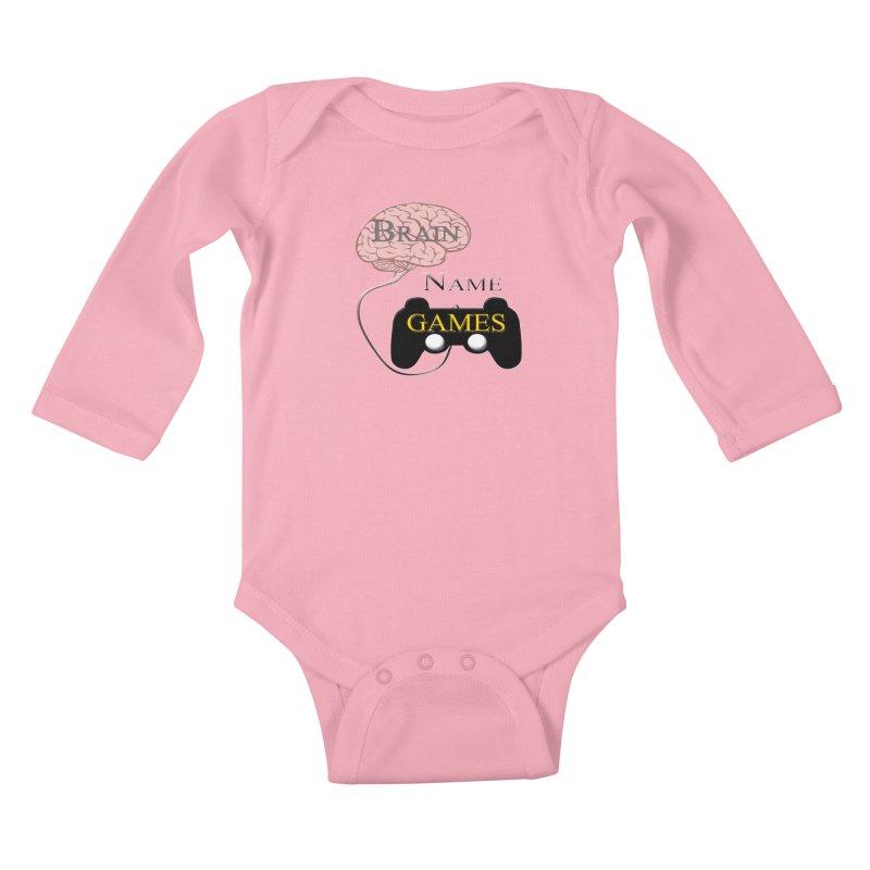 Brain Name Games Kids Baby Longsleeve Bodysuit by Every Drop's An Idea's Artist Shop