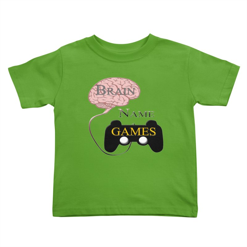 Brain Name Games Kids Toddler T-Shirt by Every Drop's An Idea's Artist Shop
