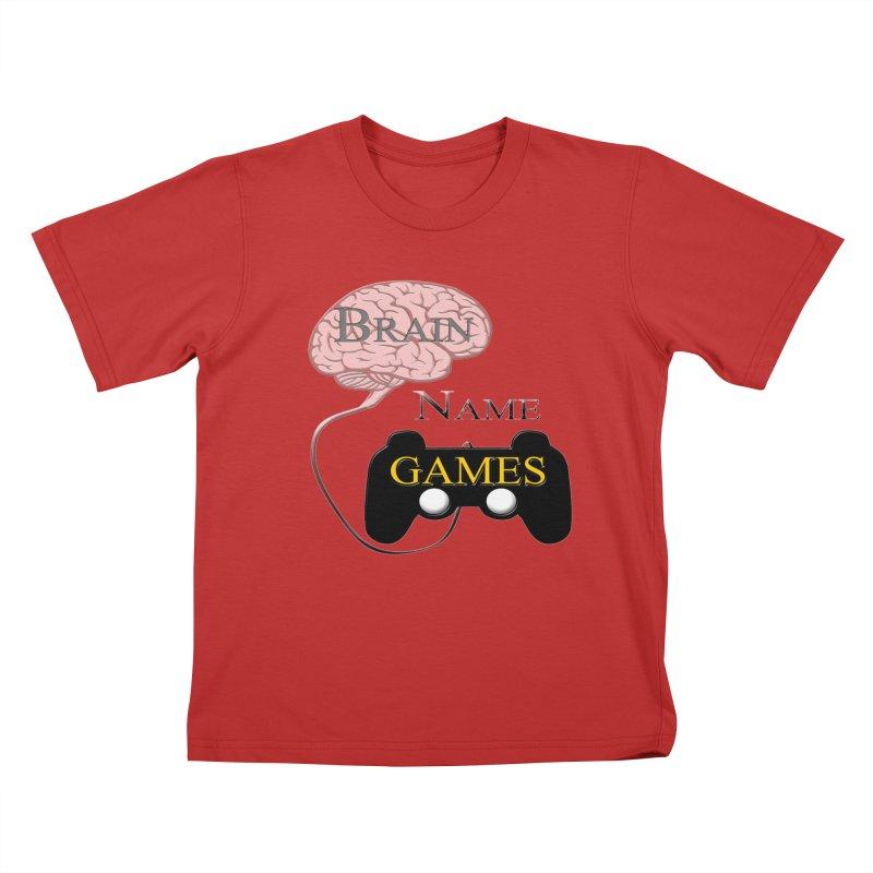 Brain Name Games Kids T-Shirt by Every Drop's An Idea's Artist Shop