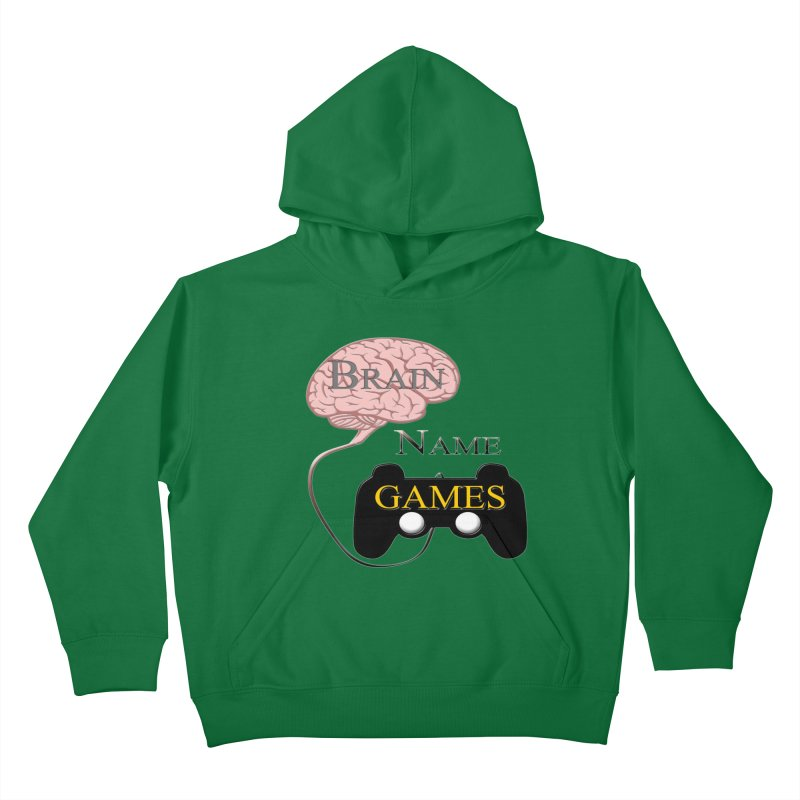 Brain Name Games Kids Pullover Hoody by Every Drop's An Idea's Artist Shop