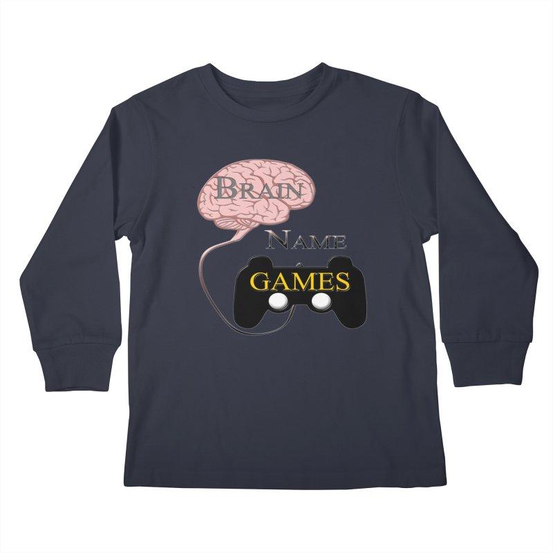 Brain Name Games Kids Longsleeve T-Shirt by Every Drop's An Idea's Artist Shop