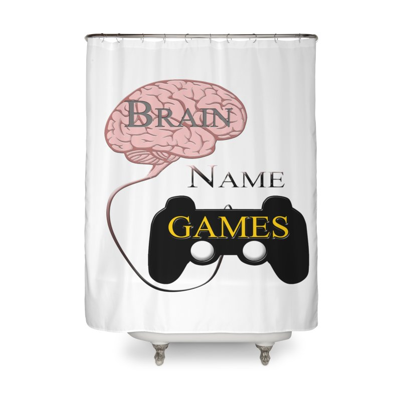 Brain Name Games Home Shower Curtain by Every Drop's An Idea's Artist Shop