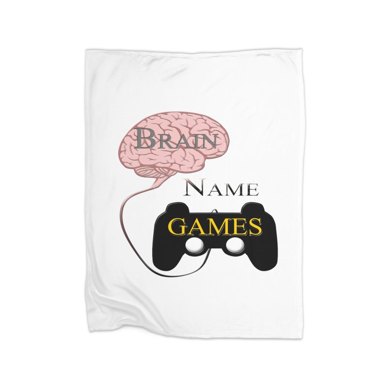 Brain Name Games Home Blanket by Every Drop's An Idea's Artist Shop