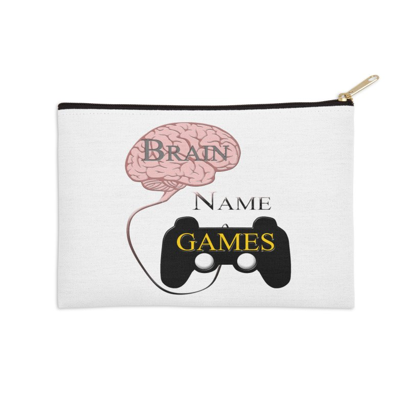 Brain Name Games Accessories Zip Pouch by Every Drop's An Idea's Artist Shop