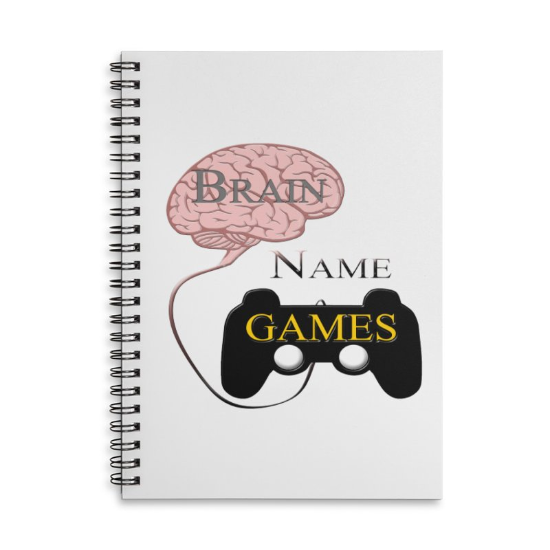 Brain Name Games Accessories Notebook by Every Drop's An Idea's Artist Shop