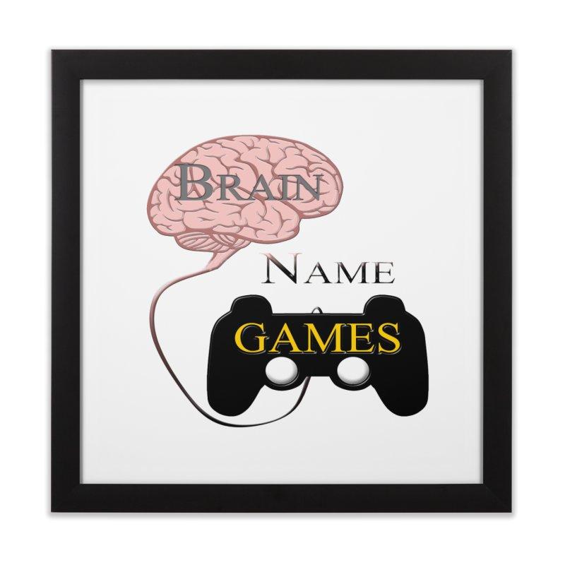Brain Name Games Home Framed Fine Art Print by Every Drop's An Idea's Artist Shop