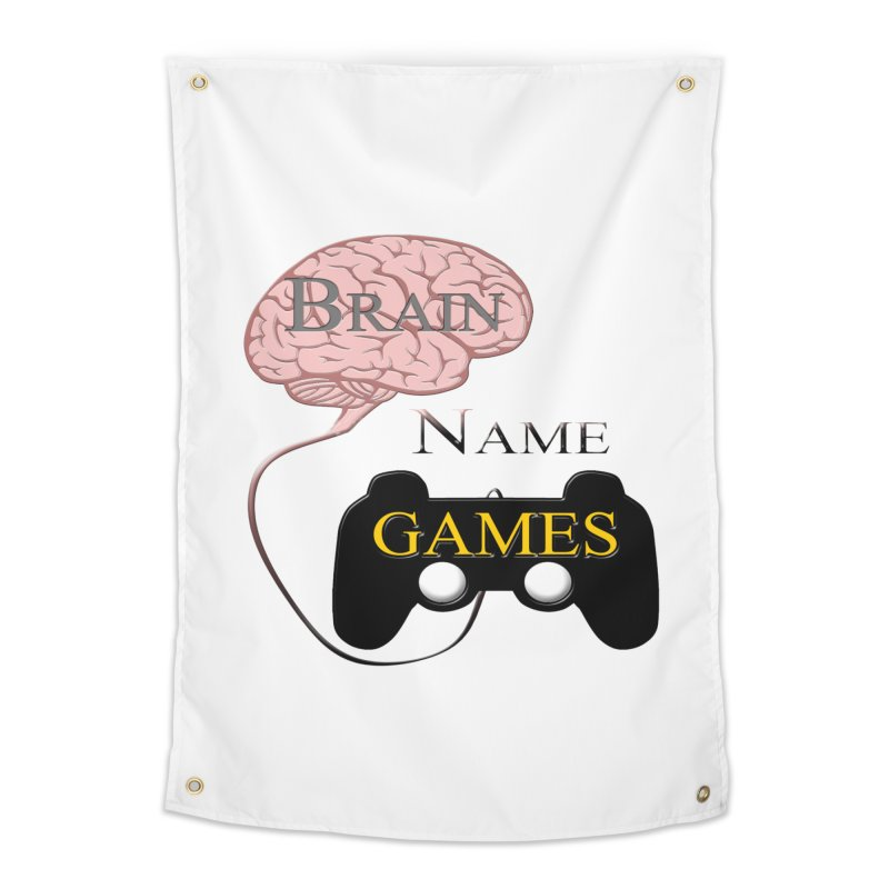 Brain Name Games Home Tapestry by Every Drop's An Idea's Artist Shop