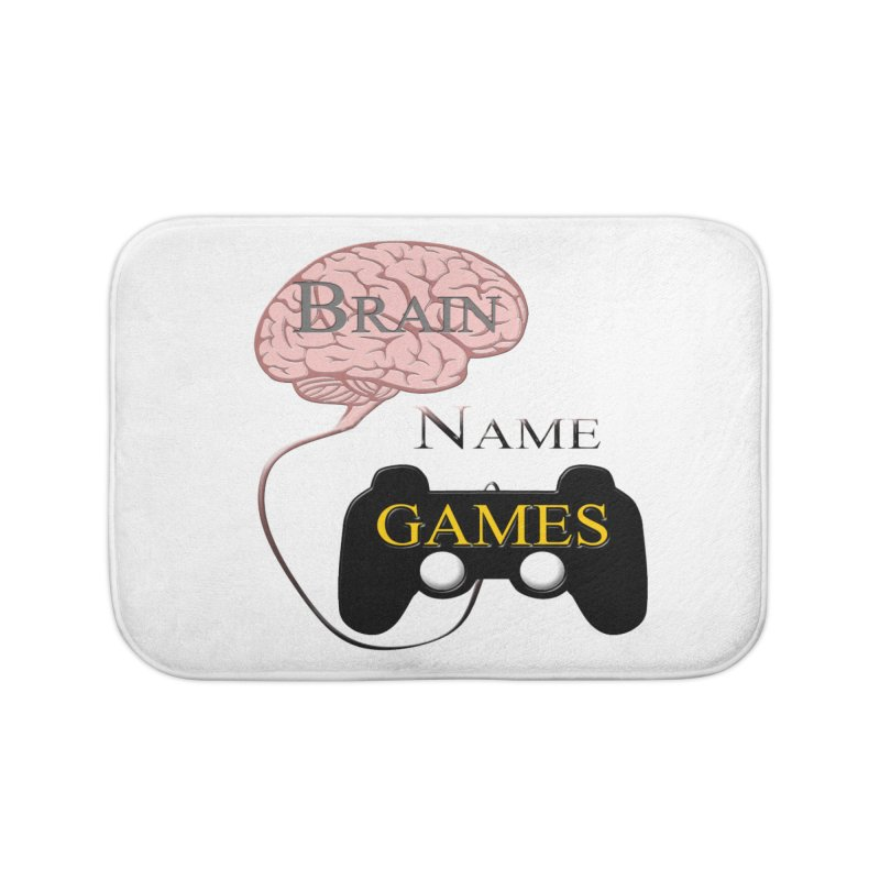 Brain Name Games Home Bath Mat by Every Drop's An Idea's Artist Shop