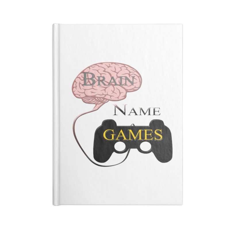 Brain Name Games in Blank Journal Notebook by Every Drop's An Idea's Artist Shop
