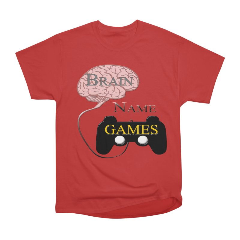 Brain Name Games Men's Heavyweight T-Shirt by Every Drop's An Idea's Artist Shop