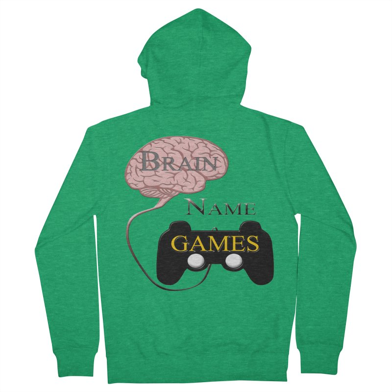 Brain Name Games Women's Zip-Up Hoody by Every Drop's An Idea's Artist Shop