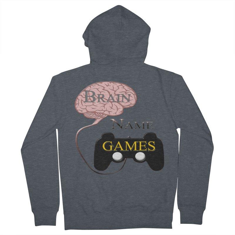 Brain Name Games Women's Zip-Up Hoody by Every Drop's An Idea's Artist Shop