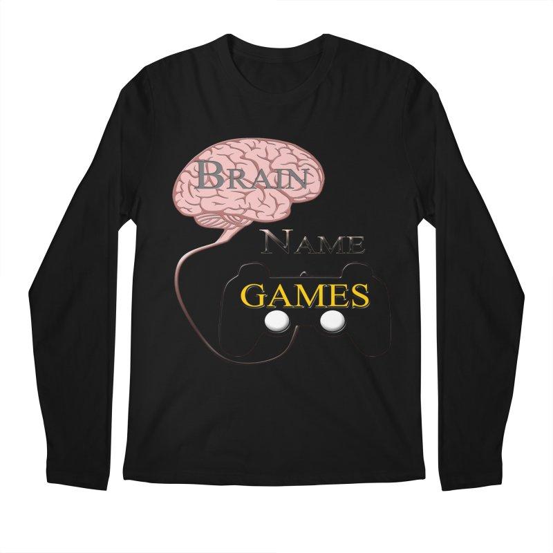 Brain Name Games Men's Longsleeve T-Shirt by Every Drop's An Idea's Artist Shop