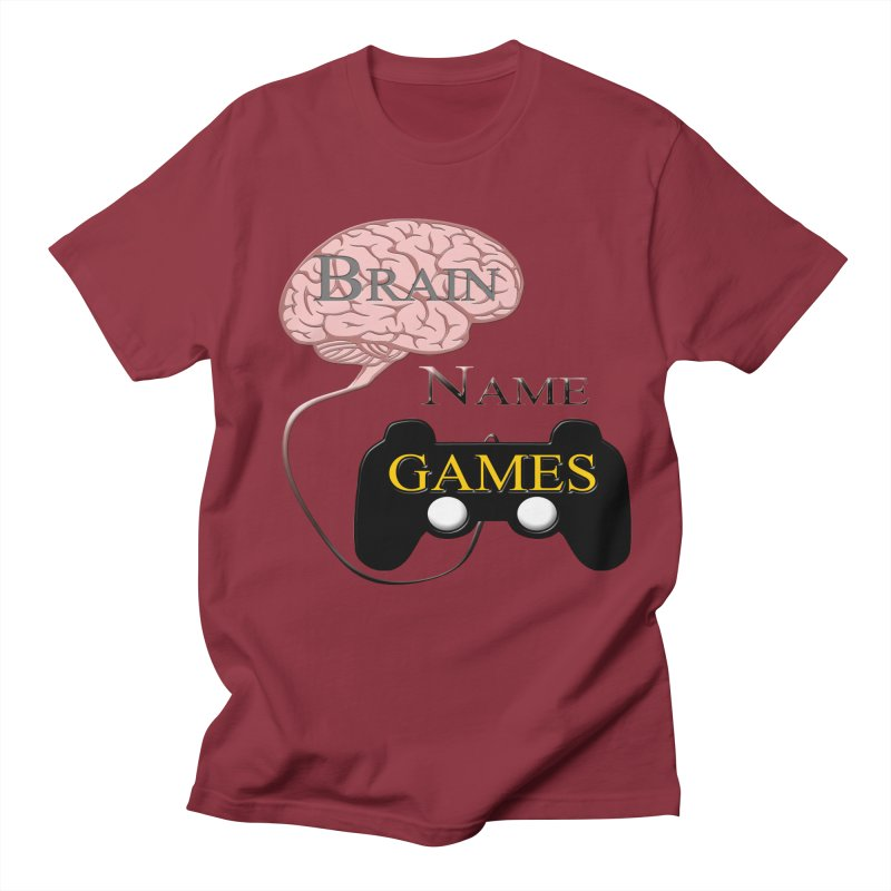 Brain Name Games in Men's T-Shirt Scarlet Red by Every Drop's An Idea's Artist Shop