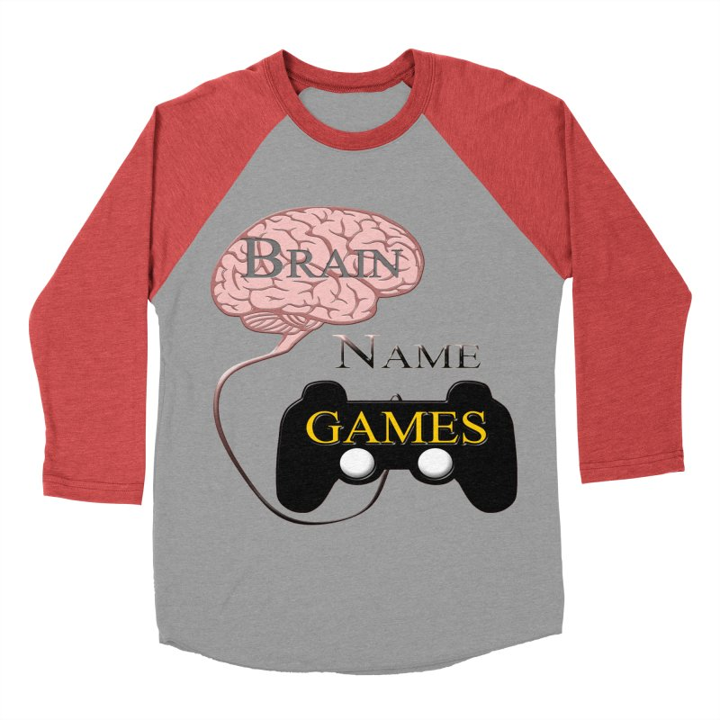 Brain Name Games Women's Baseball Triblend T-Shirt by Every Drop's An Idea's Artist Shop