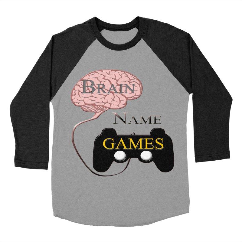 Brain Name Games Women's Baseball Triblend T-Shirt by Every Drop's An Idea's Artist Shop