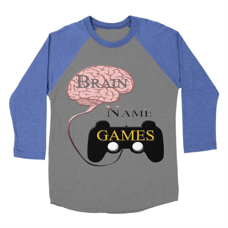 Brain Name Games Men's Baseball Triblend T-Shirt by Every Drop's An Idea's Artist Shop