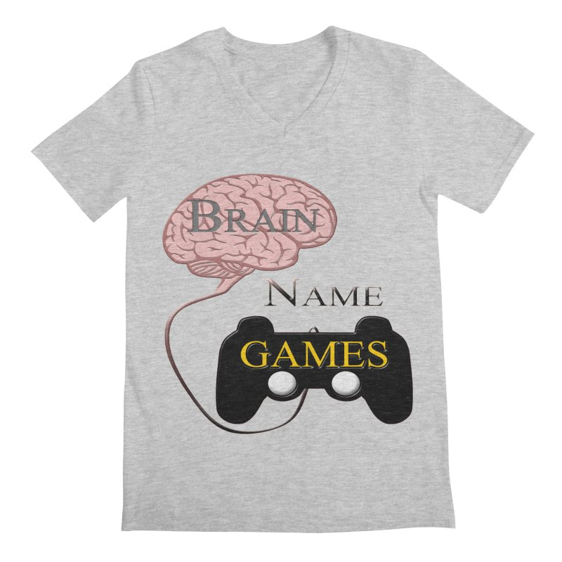 Brain Name Games Men's V-Neck by Every Drop's An Idea's Artist Shop
