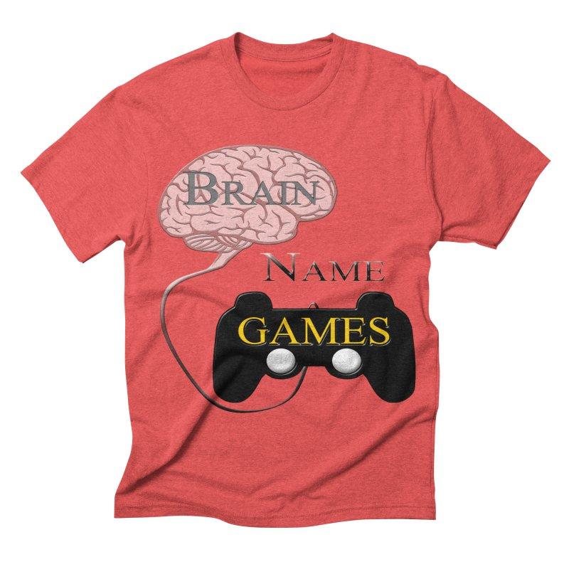 Brain Name Games Men's Triblend T-shirt by Every Drop's An Idea's Artist Shop