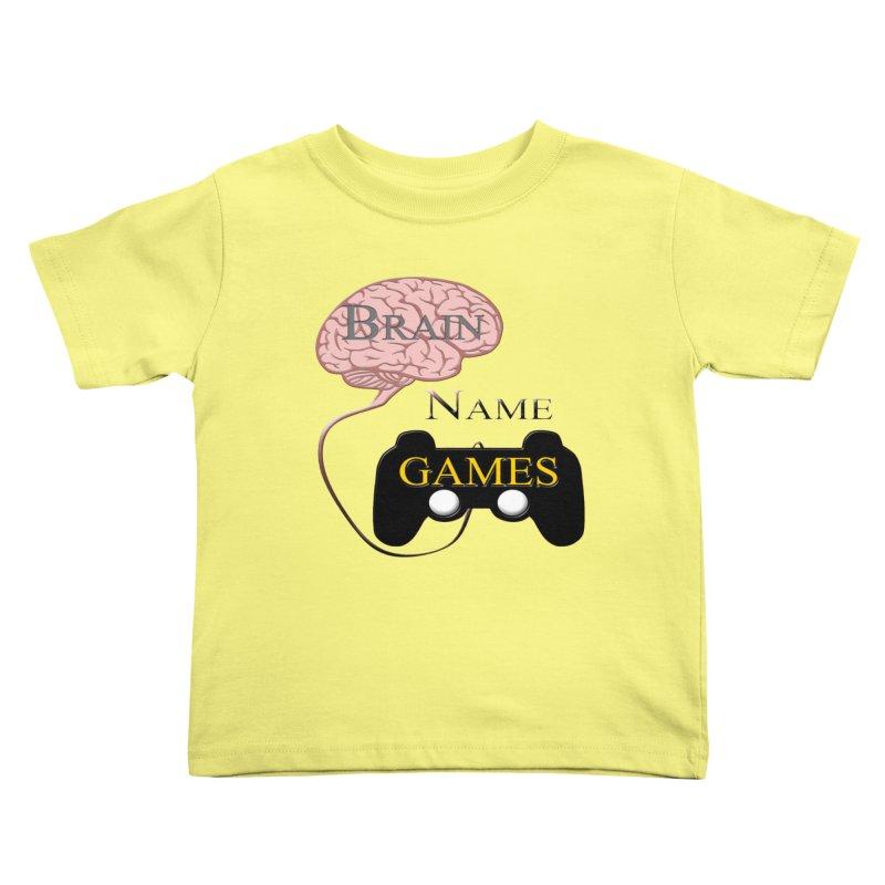 Brain Name Games Kids Toddler T-Shirt by Every Drop's An Idea's Artist Shop