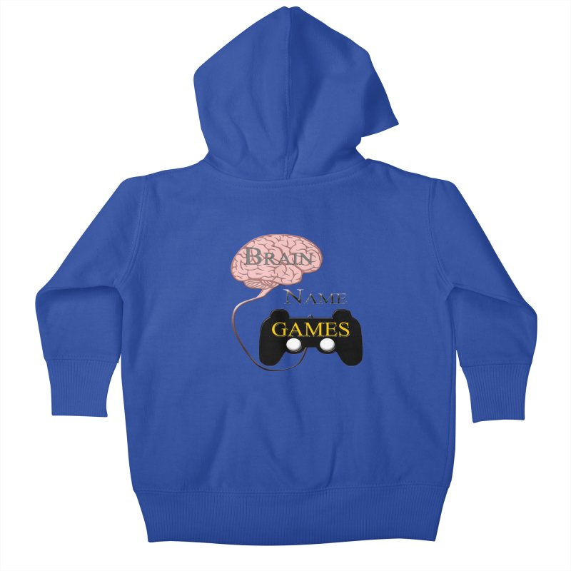 Brain Name Games Kids Baby Zip-Up Hoody by Every Drop's An Idea's Artist Shop