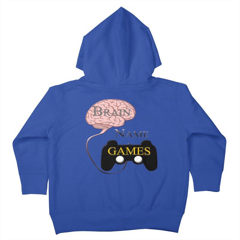 Brain Name Games Kids Toddler Zip-Up Hoody by Every Drop's An Idea's Artist Shop