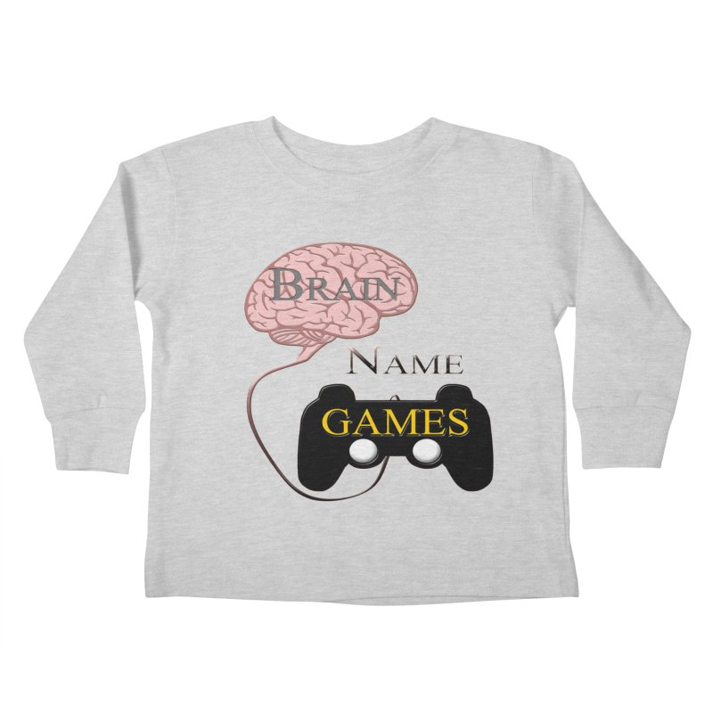 Brain Name Games Kids Toddler Longsleeve T-Shirt by Every Drop's An Idea's Artist Shop
