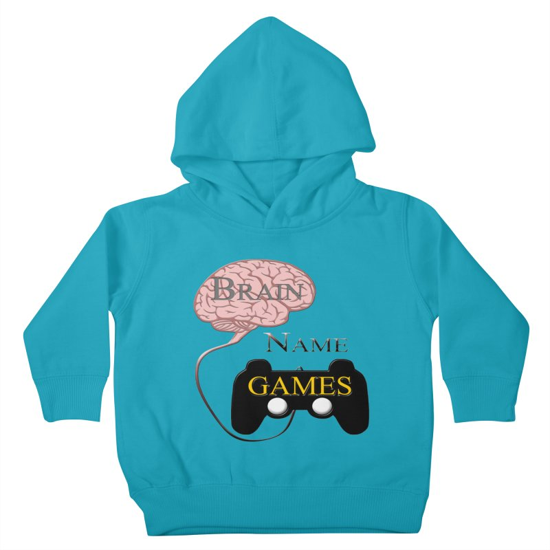 Brain Name Games Kids Toddler Pullover Hoody by Every Drop's An Idea's Artist Shop