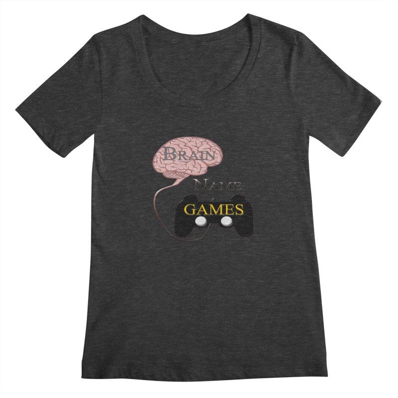 Brain Name Games Women's Scoopneck by Every Drop's An Idea's Artist Shop