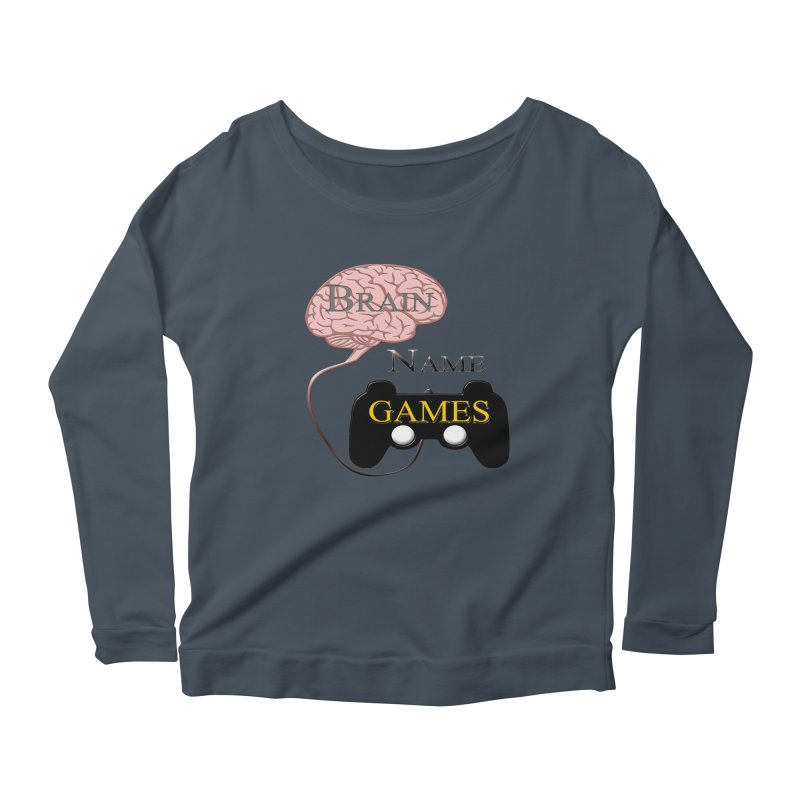 Brain Name Games Women's Longsleeve Scoopneck  by Every Drop's An Idea's Artist Shop