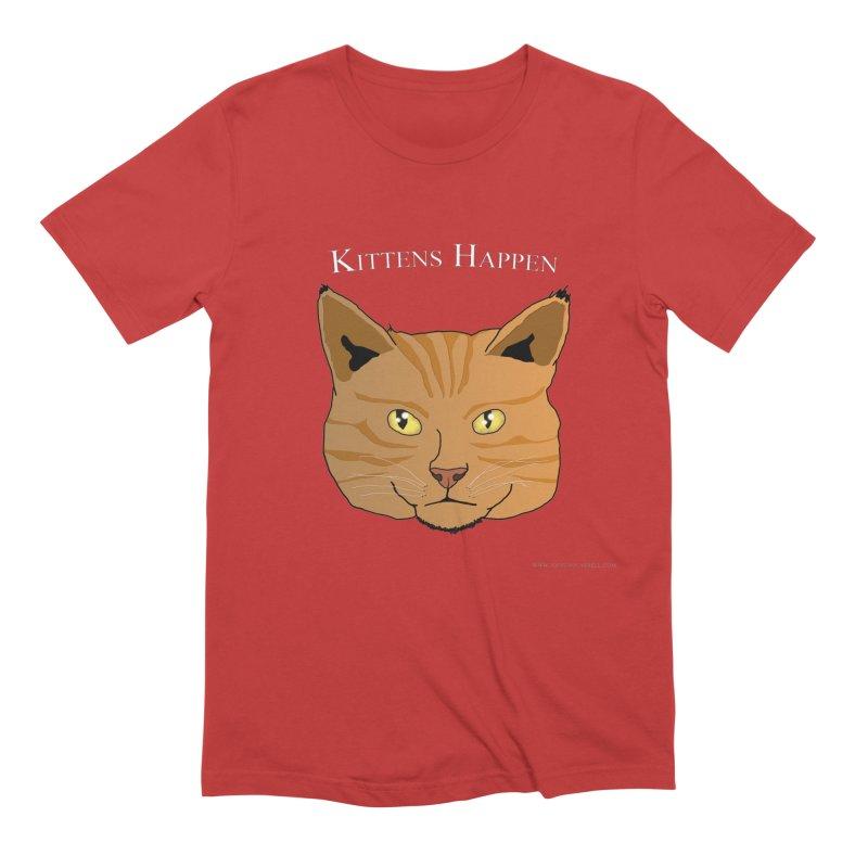 Kittens Happen Men's Extra Soft T-Shirt by Every Drop's An Idea's Artist Shop