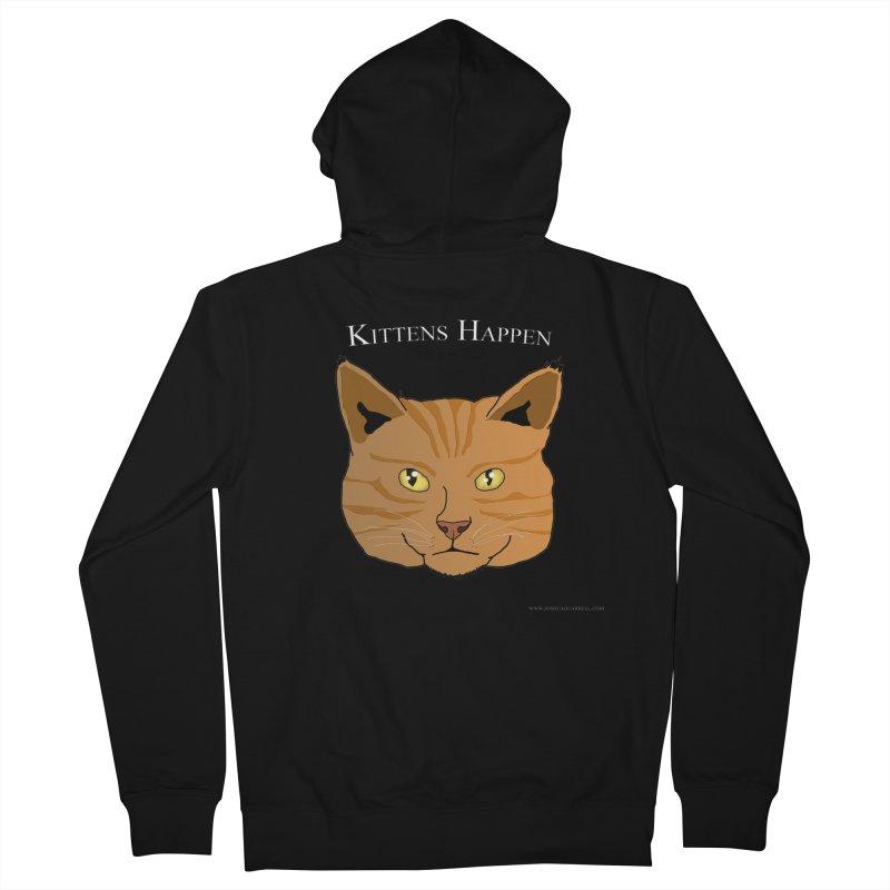 Kittens Happen Men's Zip-Up Hoody by Every Drop's An Idea's Artist Shop